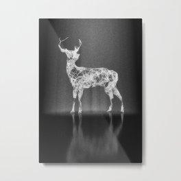 Deer in the Spotlight Metal Print