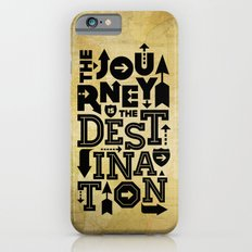 The Journey Is The Destination, Gold Map Slim Case iPhone 6s