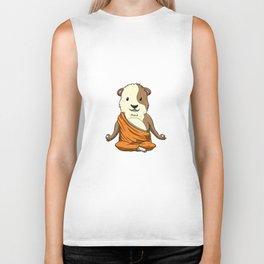Budda Guinea Pig Funny Cavy Meditation Yoga Position Biker Tank