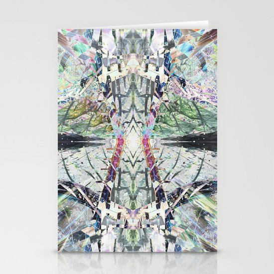 Kaleidoscopic Diamonds Stationery Cards