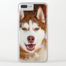 Hero in the snow Clear iPhone Case