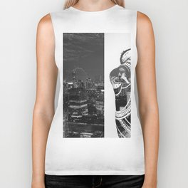 Tattoo and architecture of the city Biker Tank