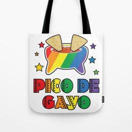 Gay Pride Gift Pico De Gayo Pico De Gallo Rainbow LGBT Tote Bag
