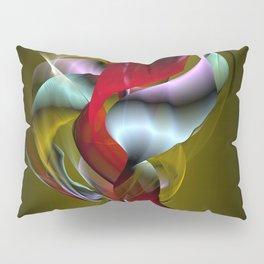 Flowered Khaki Pillow Sham