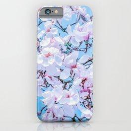 Vaporwave Magnolia iPhone Case