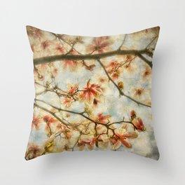 Magnolia Skys Throw Pillow