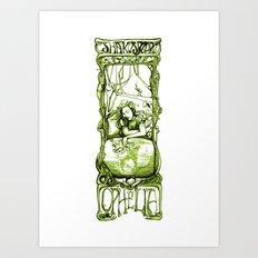 Ophelia in Reverie - Hamlet - Shakespeare Illustration Art Art Print