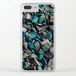 Turquoise & Teal Clear iPhone Case