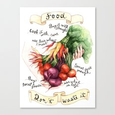 Food Poster Canvas Print