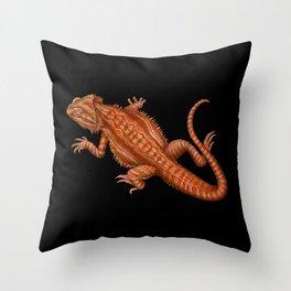 Bearded Dragon 2 Throw Pillow