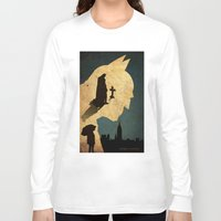 bat man Long Sleeve T-shirts featuring BAT MAN  by Edmond Lim