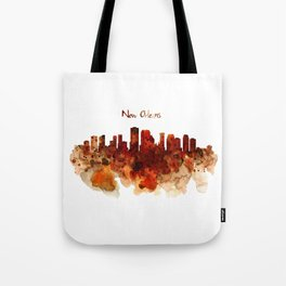 New Orleans watercolor skyline Tote Bag