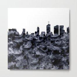Melbourne Skyline Australia Metal Print