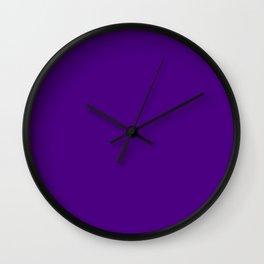 Indigo - solid color Wall Clock