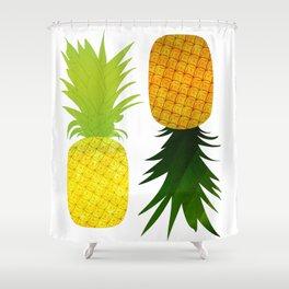 Yellow Pineapple Golden Pinapple Shower Curtain