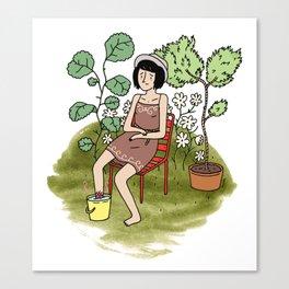 Le Jardin. Canvas Print