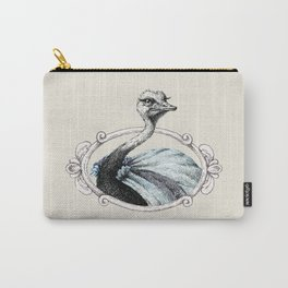 Portrait of Lady Ostrich Carry-All Pouch