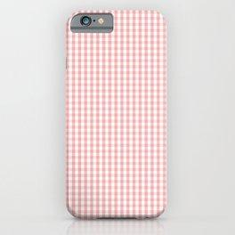 Mini Lush Blush Pink and White Gingham Check Plaid iPhone Case