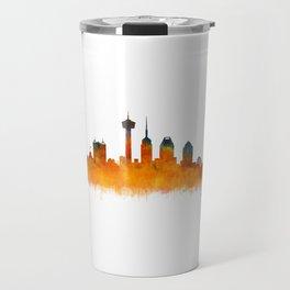 San Antonio City Skyline Hq v2 Travel Mug