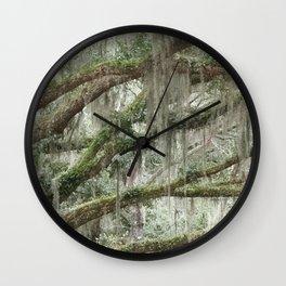 Live Oak Trees and Spanish Moss Wall Clock