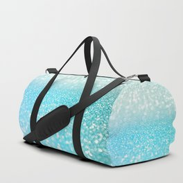 Mermaid Sea Foam Ocean Ombre Glitter Duffle Bag