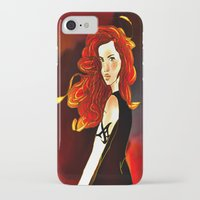 mortal instruments iPhone & iPod Cases featuring Clary Fray from The Mortal Instruments by Cassandra Clare by Amitra Art