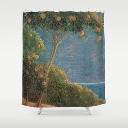Classical masterpiece Sunset in Liguria by Geotano Previati, 1912 Shower Curtain
