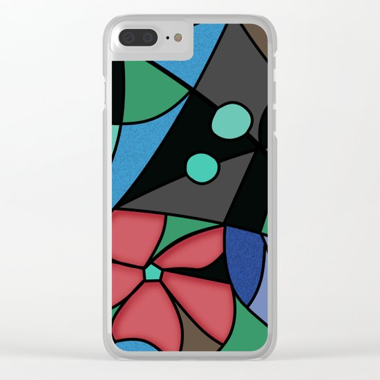 Abstract pattern Mosaic . Clear iPhone Case