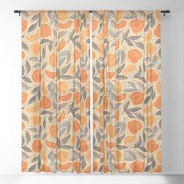 Life's a Peach Pattern Sheer Curtain