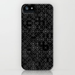Black and White Overlap 1 iPhone Case