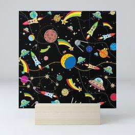Space Black Mini Art Print