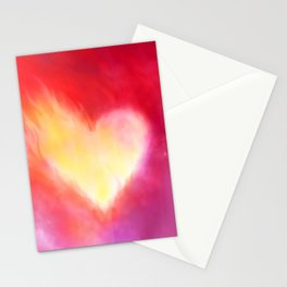 Heart on fire Stationery Cards