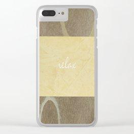 Relax Modern Art w/ Signature Clear iPhone Case