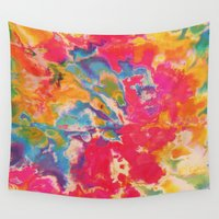 tie dye Wall Tapestries featuring Tie Dye by The Dope Scope