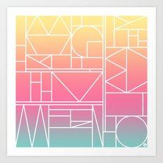 Kaku Quattro Art Print