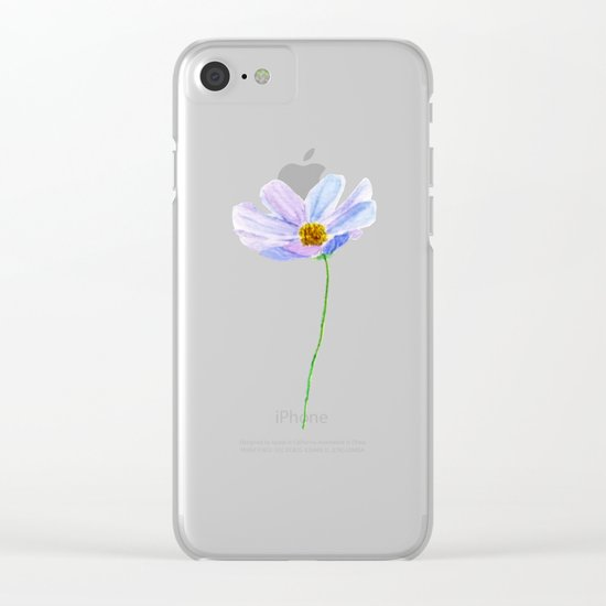 one purple cosmos Clear iPhone Case