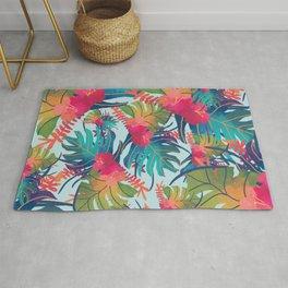 Watercolor Tropical Pattern Rug