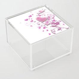Candy Hearts Acrylic Box