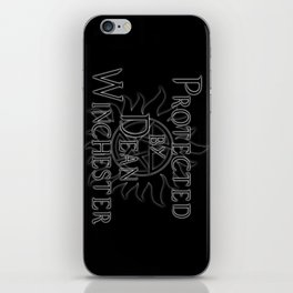 Protected by Dean Winchester iPhone Skin