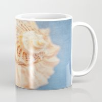 seashell Mugs featuring Seashell by The Last Sparrow