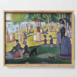 A Sunday on La Grande Jatte by Georges Seurat, 1884 Serving Tray