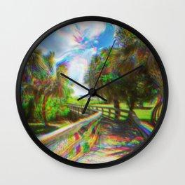 Trippy Walkway Wall Clock