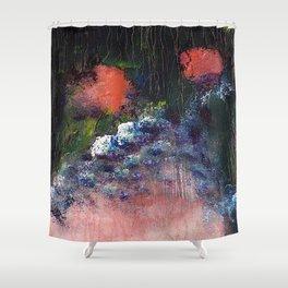 Poppy - Mixed Media Acrylic Abstract Modern Art, 2009 Shower Curtain