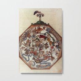 Peter Apian - Astronomicum Caesareum 1540 - Plate 1 Zodiac and Constellations Metal Print