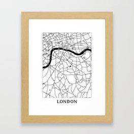 London Minimal Map Framed Art Print
