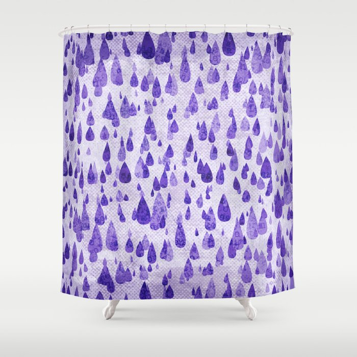 Purple Rain Shower Curtain by noondaydesign | Society6