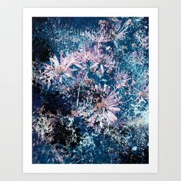 ABSTRACT FLOWERS XY Art Print