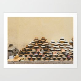 Panama Hats in Cartagena, Colombia Art Print