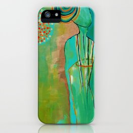 """Wish Believe"" Original Painting by Flora Bowley iPhone Case"