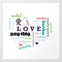 heart filled with { love } Art Print